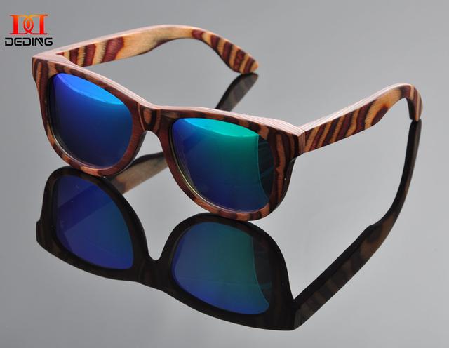 Nova colorido óculos de sol de madeira moldura de madeira óculos de sol óculos de sol de madera mulheres óculos de sol da MadeiraDD0917