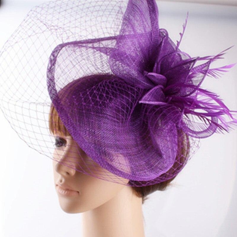17 видов цветов очаровательные материал Sinamay чародей головной убор Танцы головные уборы фотографического студийная шляпа костюм для всех се...