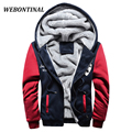 WEBONTINL Autumn Winter Velvet Soft Shell Mens Jackets And Coats Patchwork Hoodies Casual Hooded Jacket Men coat Clothing