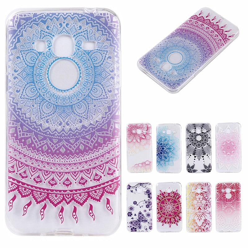 mandala flower totem case for coque samsung galaxy j3 case soft cover for coque samsung j3 case