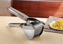 1PC Stainless Steel Potato Press Masher Ricer Fruit Juicr Garlic Mashers Vegetable Tools Kitchen Accesssories OK 0944