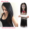Angel Beauty 8A 360 Lace Frontal Closure Lace Frontals 360 Lace Frontal With Bundles straight 360 Lace Frontal with Baby Hairs