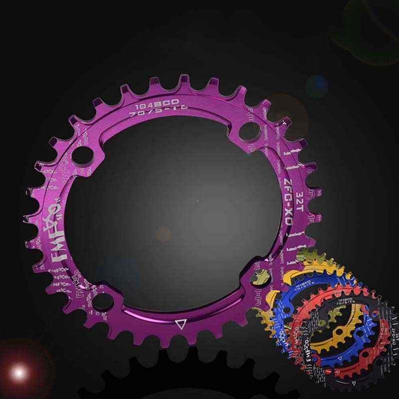 Велосипедная Звездочка 104BCD 32 T/34 T узкая широкая круглая велосипедная ведущая звездочка велосипеда 7075-T6 Горная дорога велосипед круг шатунная пластина