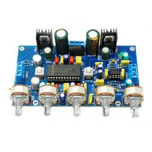 лучшая цена LM4610 + NE5532 HIFI Dual Channel Preamplifier Tone Board Dual AC12V-15V
