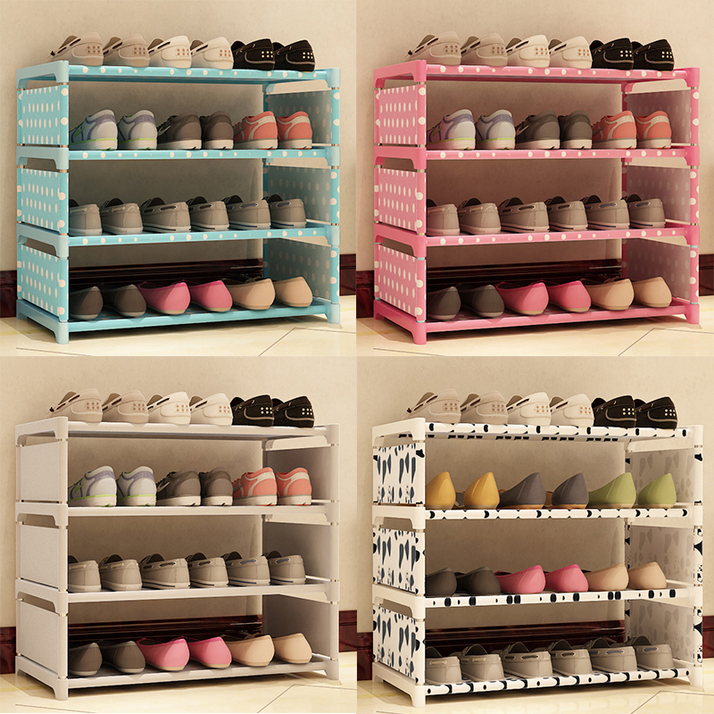3 Tier Non Woven Shoe Cabinets Shelves Simple Living Room Home Decorations Debris Storage