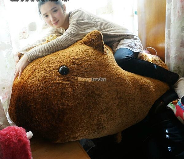 Fancytrader Biggest 41\'\' 105cm Lovely Giant Plush Stuffed Kapibarasan Vole Otters, Free Shipping FT50159 (1)