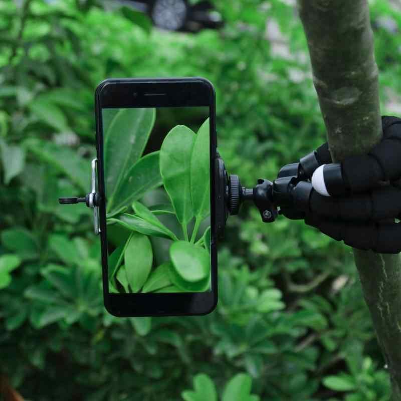 Dengan Klip Telepon Spons Gurita Tripod Universal Pemegang Telepon Portabel Kamera Tripod Flexible Octopus Bracket Monopod