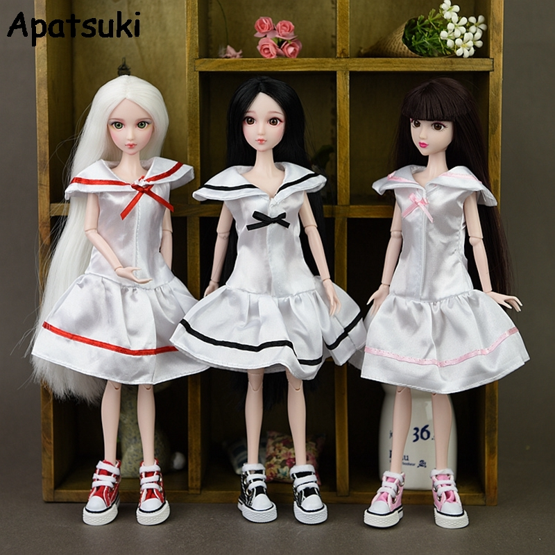 Doll Clothes For Barbie Doll Cosplay Costume Sailor Dress Student Clothes Sailor Suit Dresses For 1/6 BJD Dolls Accessories Toy