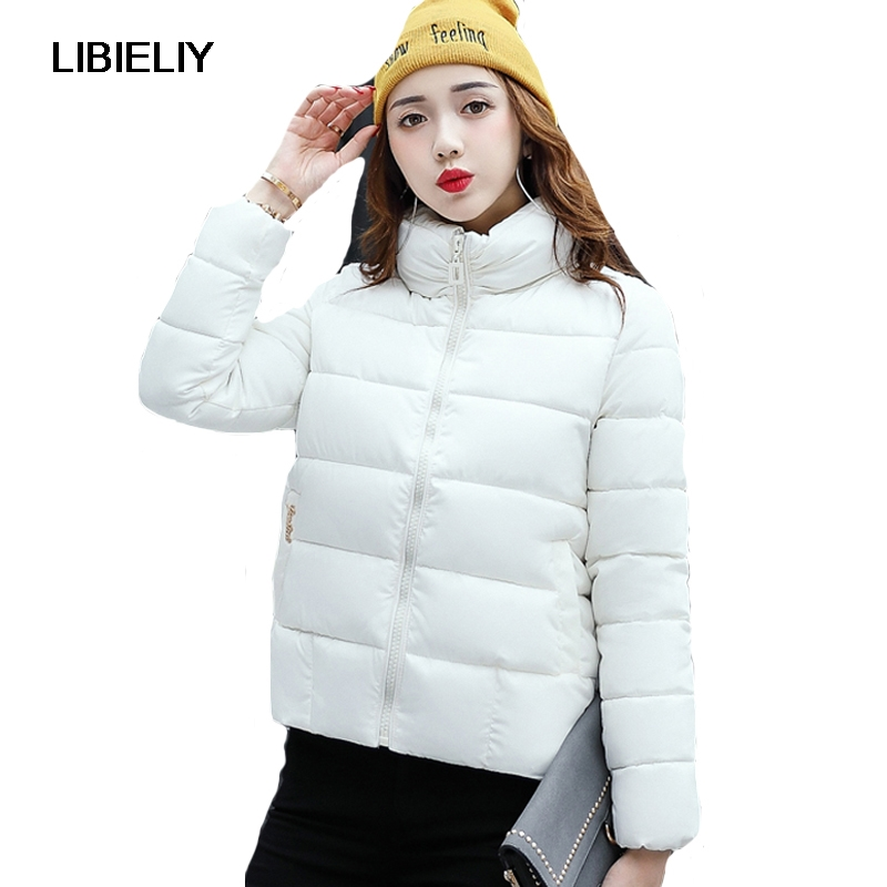 Nice Pop Sale Women Winter Short   Basic     Jacket   Femlae Stand Collar Warm Solid Coat Outerwear Ladies Casual Chaqueta Feminino