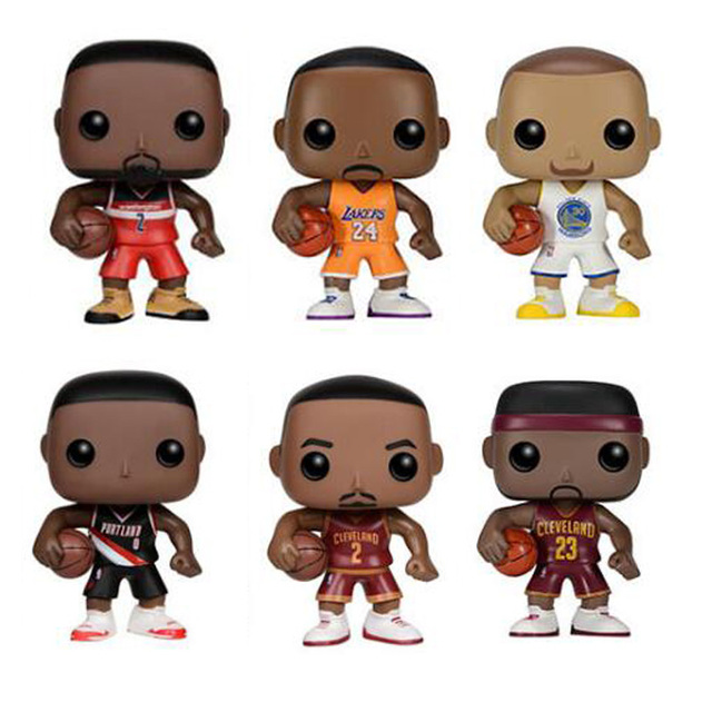 NBA Basketball Characters Kobe James Curry KYRIE JOHN DAMIAN 10cm Action Figure Toys