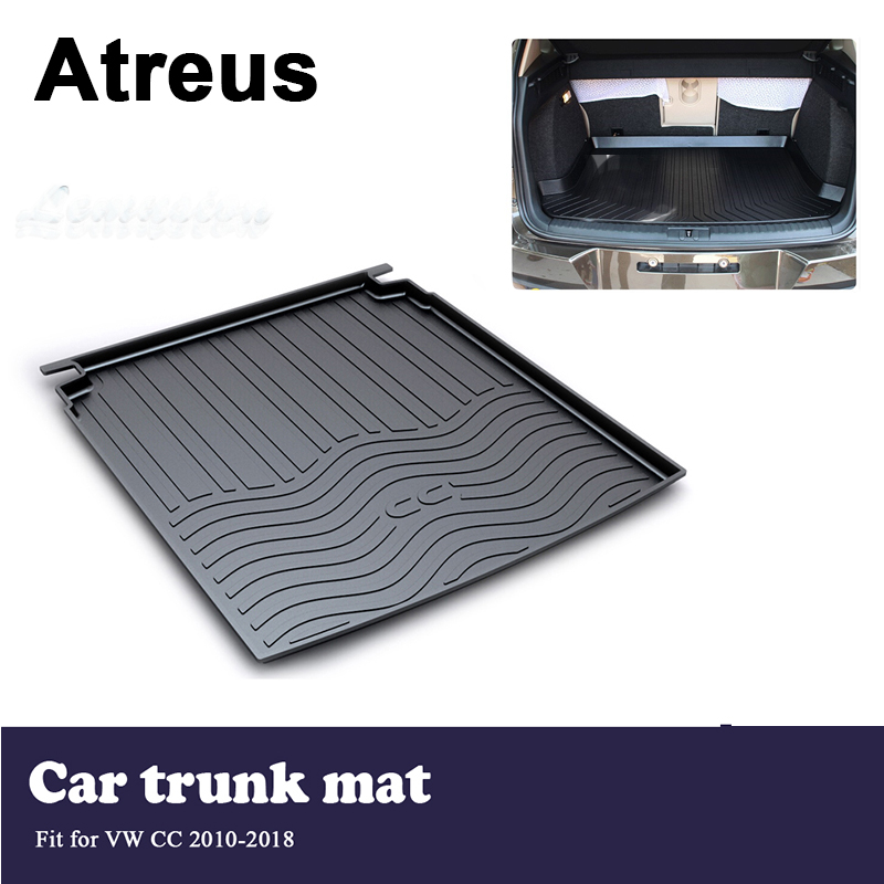 Atreus Car Trunk Cargo Floor Liner Tray Mat Cover Protection Blanket For VW CC 2010 2011 2012 2013 2014 2015 2016 2017 2018   - title=