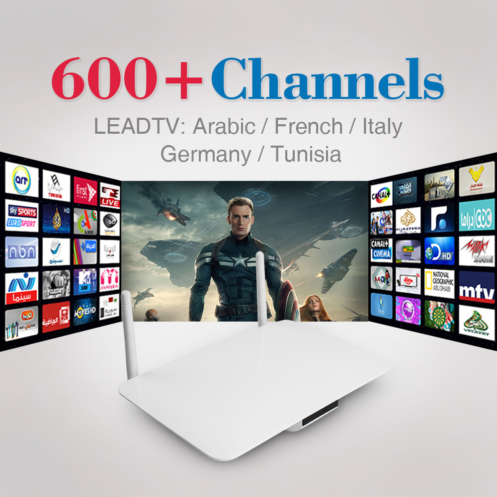 ФОТО 2017 Arabic IPTV Box 600 Plus Free Arabic Italy French Germany Channel European IPTV Set Top Box Smart Android TV Box with WIFI