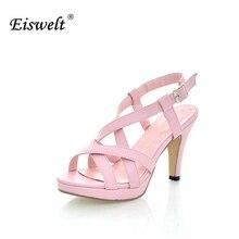 Eiswelt 2017 forme a mujeres del gladiador sandalias ocasionales al aire libre de verano de las señoras zapatos femeninos del dedo del pie abierto zapatos de plataforma sandalias de la mujer # lq3