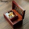 Bevigac mini caixa de música relógio do vintage brinquedo musical com melodia do castelo no céu presente para o aniversário de natal valenti9s