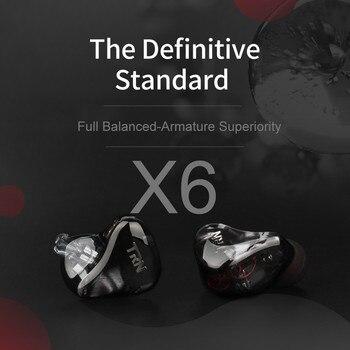 Earphone TRN X6 EarHIFI 12-Unit Ring Iron Headphones Phone Subwoofer Wired no Mic Headphone Fone De Ouvido Music Sport Headset