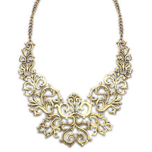 Vintage retro alloy geometric maxi colar necklace lady bohemian exothnic punk metal statement necklace collar bib kolye jewelry