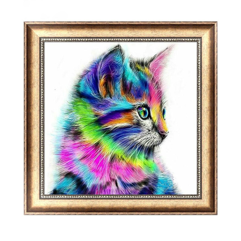 5D DIY Diamond Painting Painted Cartoon Animals Cats Mosaic Embroidery Animal Cross stitch Embroidery Crafts Decoration in Diamond Painting Cross Stitch from Home Garden