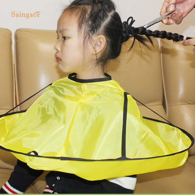 Saingace Kids Child Cutting Hair A Family Haircut Umbrella Hairdresser Waterproof Salon Barber Cape Hairdressing 1pc