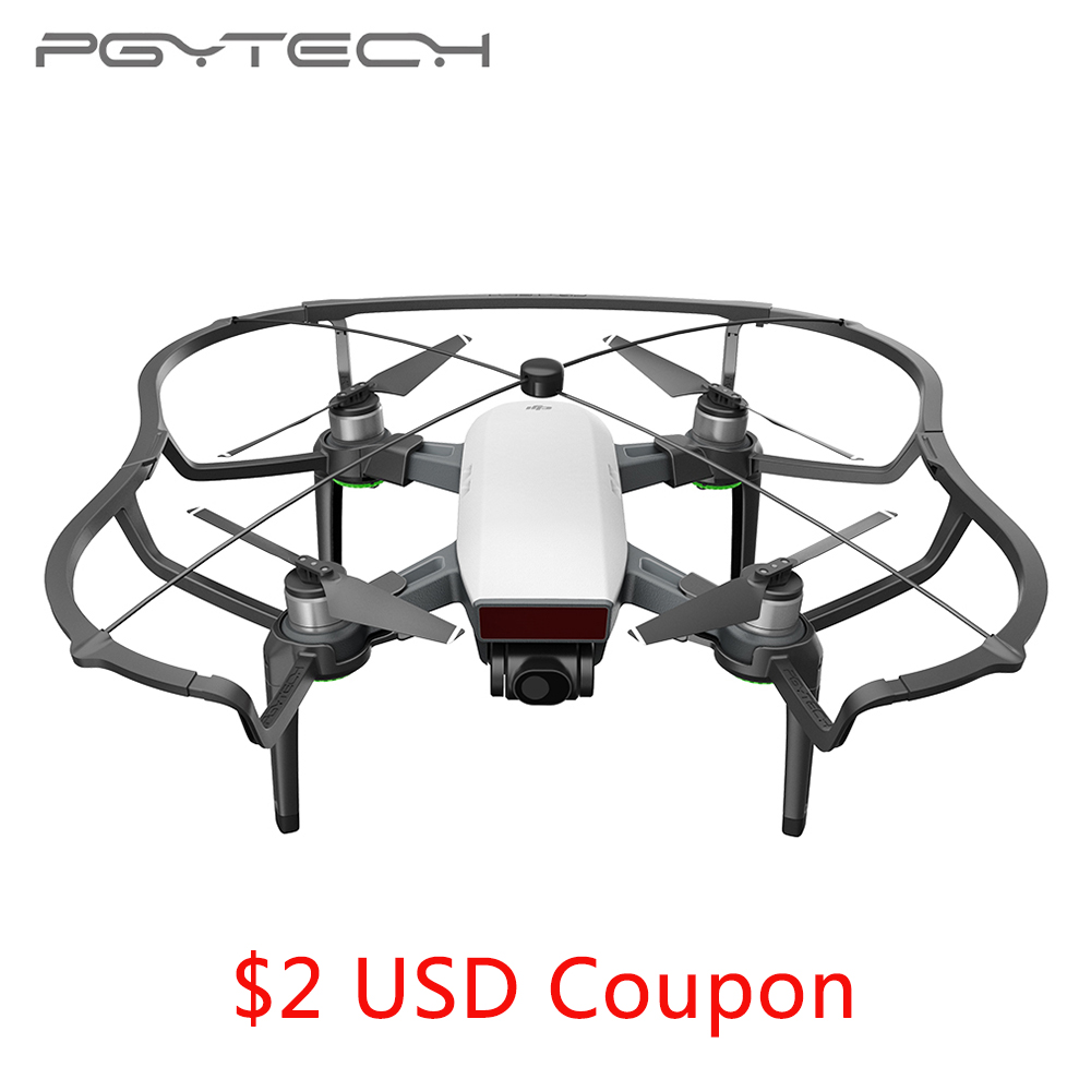 PGYTECH nueva llegada Propeller Guard & Riser Kit para DJI chispa Drone accesorios con PC y ABS Material