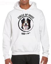Funny Casual Short Sleeve Cool Circle Of Trust-Australian Shepherd, Aussie Breed For Dog Lover Hoodies Sweatshirt