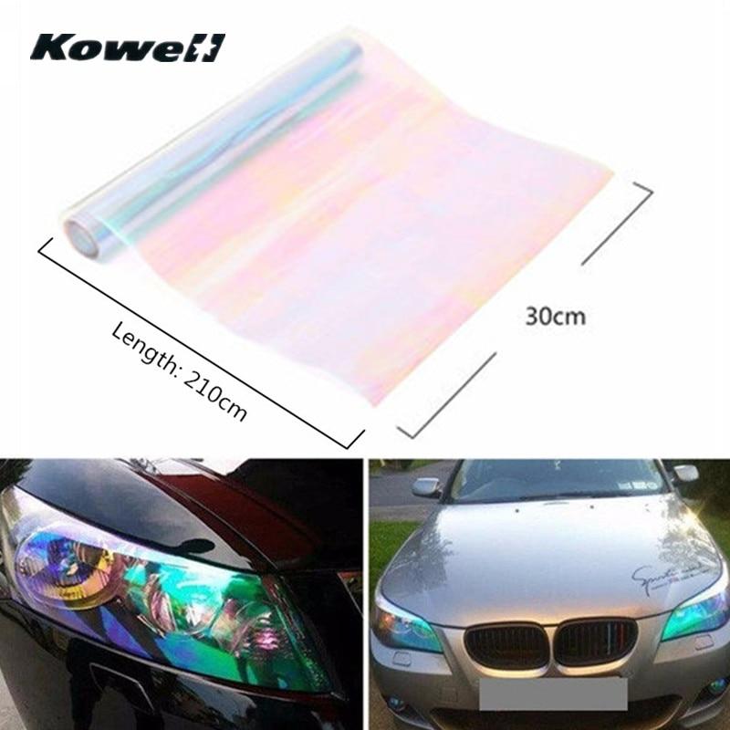 Colourful Car 3D Glossy Carbon Fiber Chameleon Vinyl Wrap Sticker Sheet Film AC
