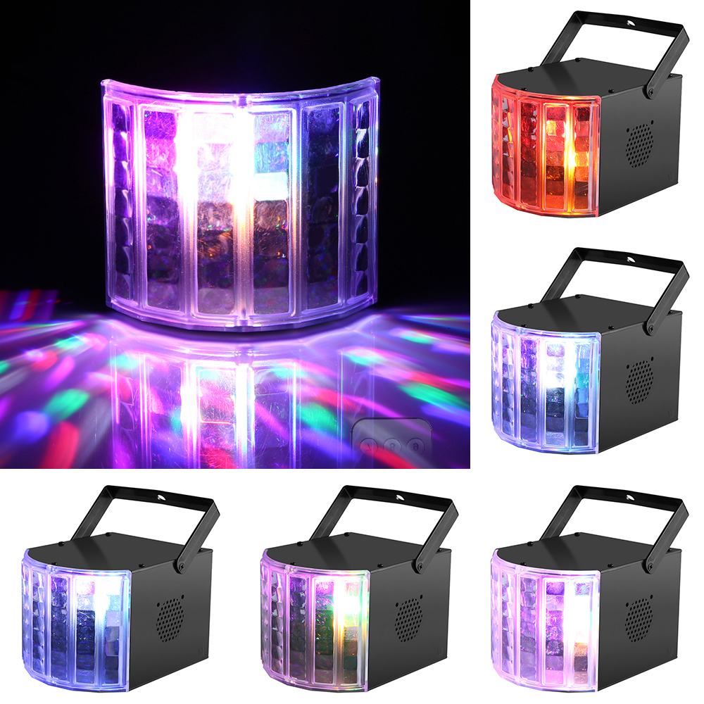 New Arrive Colorful Lighting Changing RGB Sound Actived Magic Effect Led Stage Lights DMX512 control for KTV Xmas Party Wedding ...