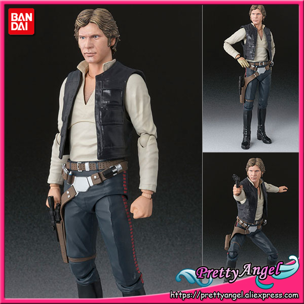 PrettyAngel - Genuine Bandai Tamashii Nations S.H.Figuarts Star Wars Han Solo (A NEW HOPE) Action Figure 2008 donruss sports legends 114 hope solo women s soccer cards rookie card