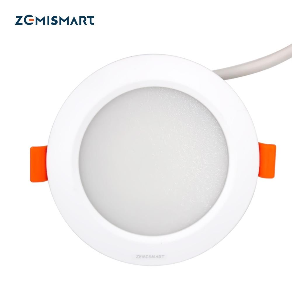 ZLL ZigBee Smart RGBW Downlight Led Bulb Light Work with Amazon Echo Plus Directly 7w Smart Lighting Solution zigbee bridge led rgbw 5w gu10 spotlight color changing zigbee zll led bulb ac100 240v led app controller dimmable smart led