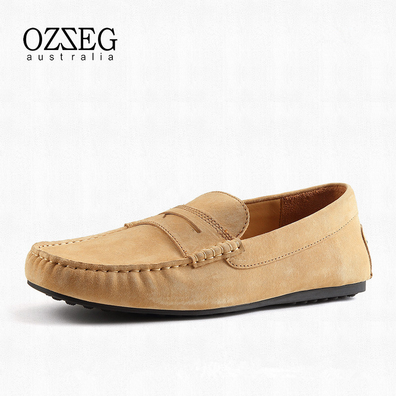 Brand Spring Autumn Men Casual Shoes Genuine Leather Loafers Moccasins Slip On Men Flats Loafers Male Soft Driving Shoes For Man men casual shoes genuine leather fashion moccasins men flats loafers soft bottom leisure driving shoes male footwear rmc 411