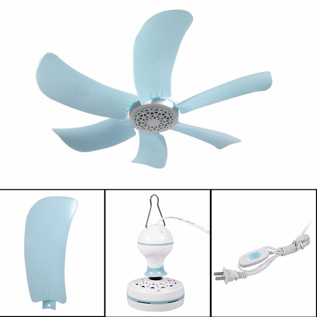 220V 8W Mini Energy-saving Electric Anti-mosquito Ceiling Fan Mini Fans Air  Conditioner Cooler for Dormitory Summer 6 Blades