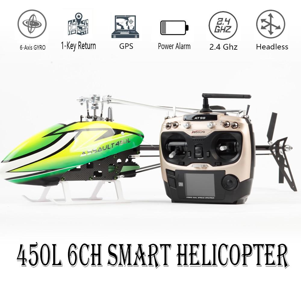 Drone intelligent 450L 6CH RC hélicoptère 450L 6CH 3D 6 axes-Gyro sans mouche GPS RC hélicoptère RTF 2.4 GHZ RC jouet
