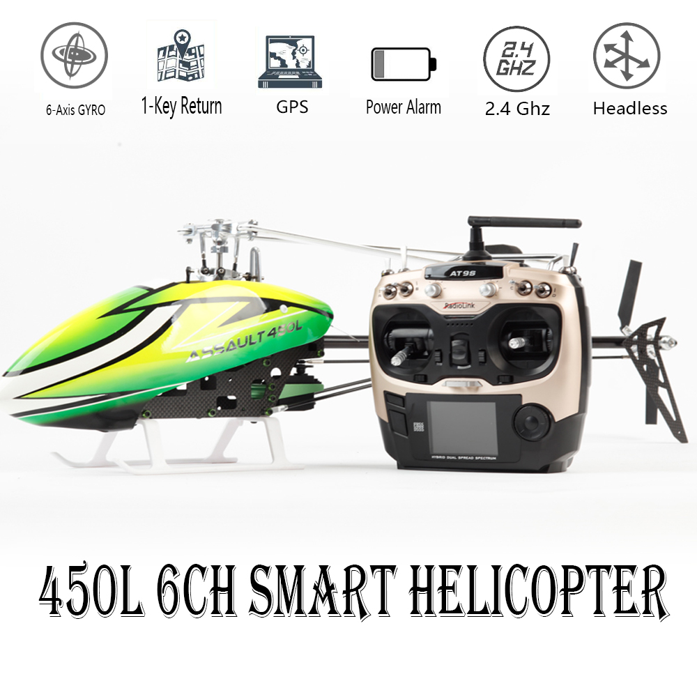 Intelligente Drone 450L 6CH RC Elicottero 450L 6CH 3D 6-asse-Gyro Flybarless GPS RC Helicopter RTF 2.4 GHZ RC Giocattolo