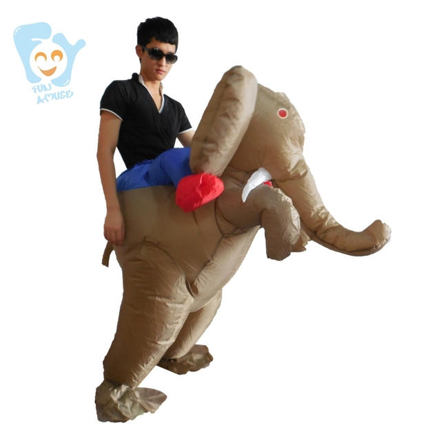 halloween costume men cosplay one piece inflatable elephant costume carnival costumes adult fancy dress