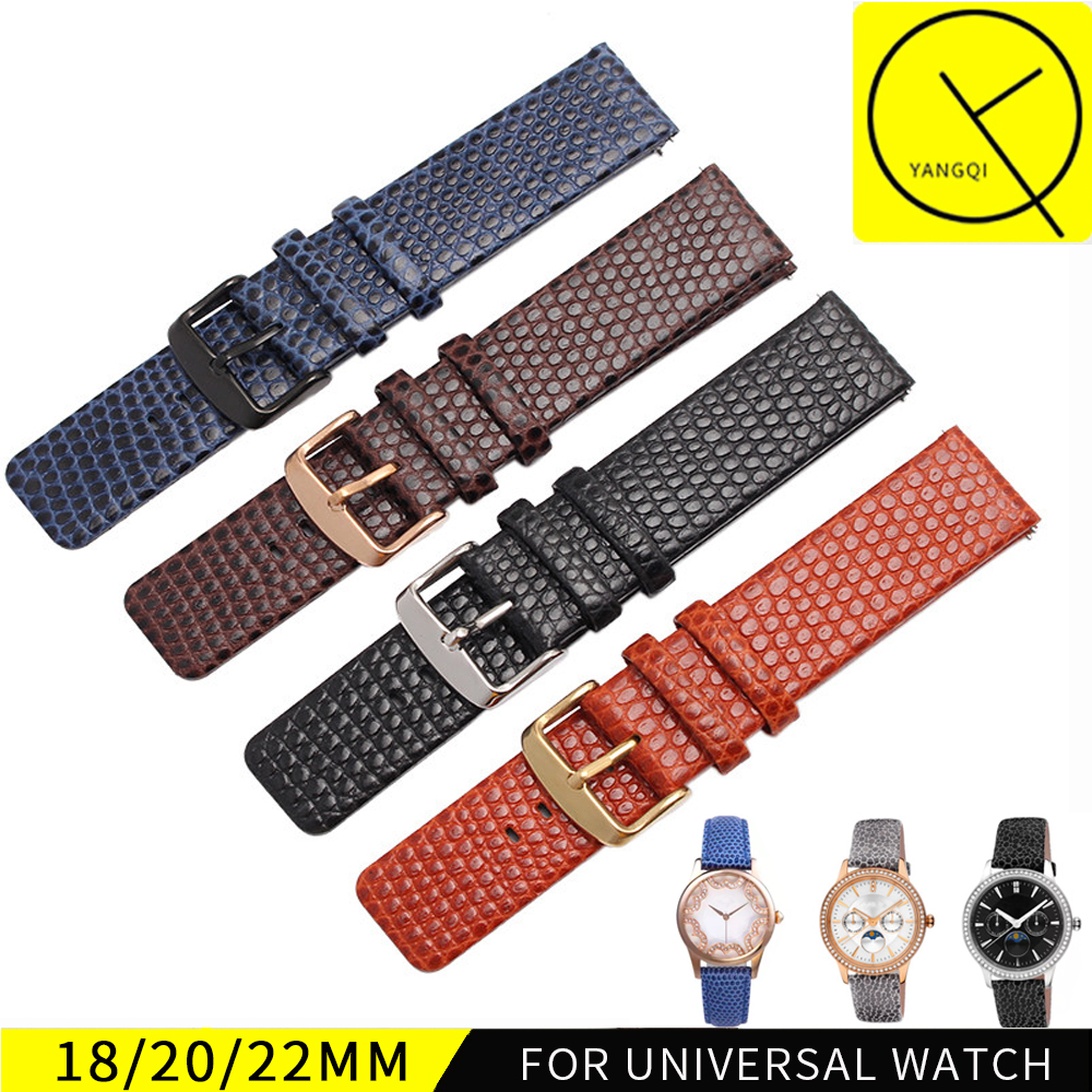 Soft Calf Genuine Leather Bracelets Lizard Pattern Strap 18mm 20mm 22mm Watchband for Movado Museum Man Woman Watch Accessories
