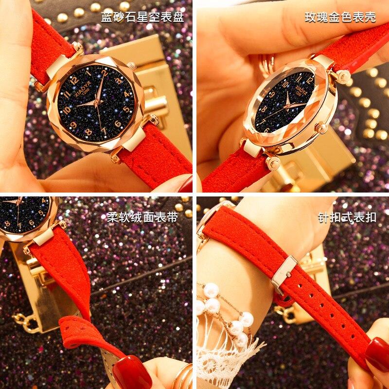 Watches Relojes Mujer 2019 Luxury Brand Gogoey Women Watches Personality Romantic Starry Sky Wrist Watch Rhinestone Design Ladies Clock