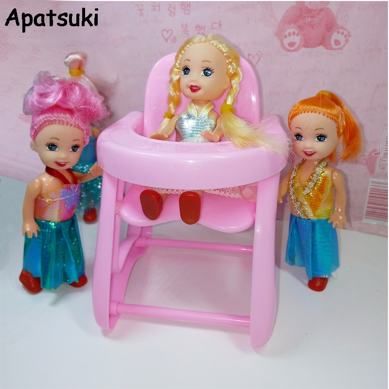 Doll Accessories Plastic Dinning Chair for Kelly Doll 1 12 Toys for Barbi Doll House Kids