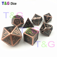 Hot New Metal Enamel Dice D4 D6 D8 D10 D% D12 D20 for Dungeons and Dragons RPG Gaming/Collection/Birthday Party Game