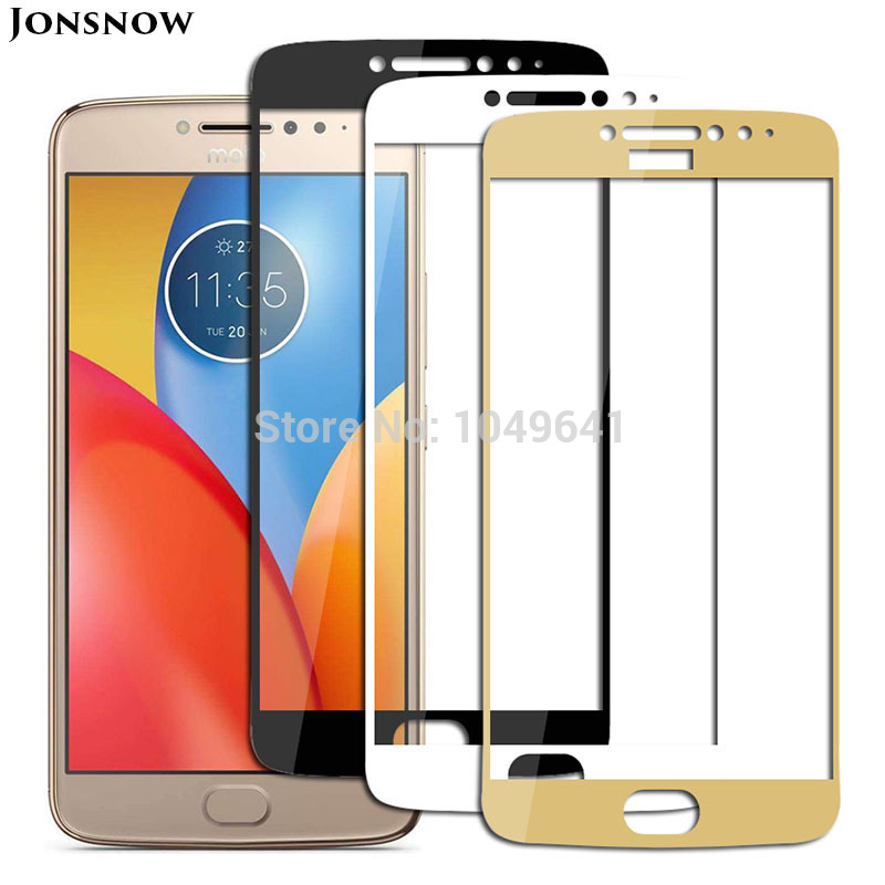 For Moto E4 Plus 5.5 9H 2D Full Screen Covered Explosion-proof Tempered Glass Film for Motorola 5 Screen Protector image