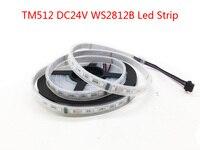 WS2812B RGB Led Strip 60Leds/m White PCB IP30 IP67 TM512 DC24V Continuous Transmission Flexible Led Light Tape Ribbon