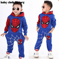 Autumn Winter Baby Boy Cute Clothing 2016 2pc Pullover Sweatshirt Top + Pant Clothes Set Baby Toddler Boy Outfit Suit aa