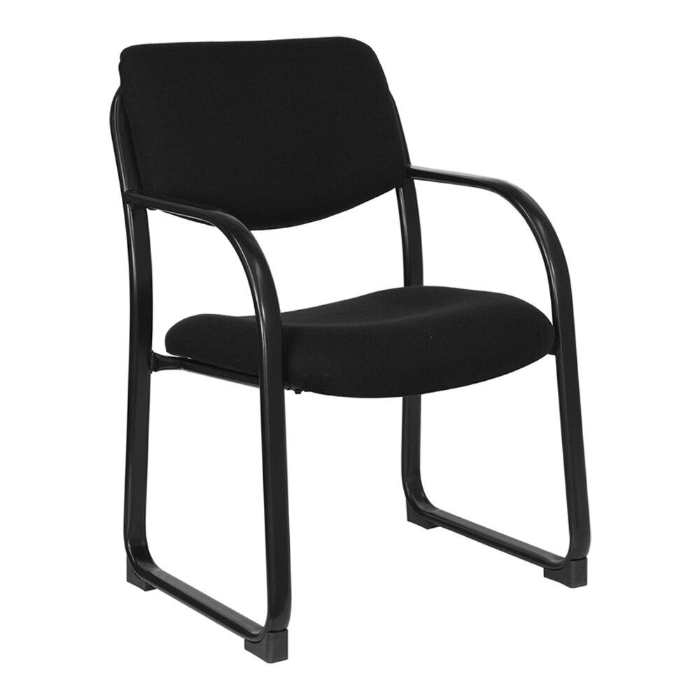 Flash Furniture Black Fabric Executive Side Chair with Sled Base станок для пристрелки lead sled dft