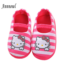 Little Kids Slippers Winter Warm Children Shoes for Girls Toddler Cartoon Mary Jane Shoes Casual Home Wear Sweet Indoor Loafers