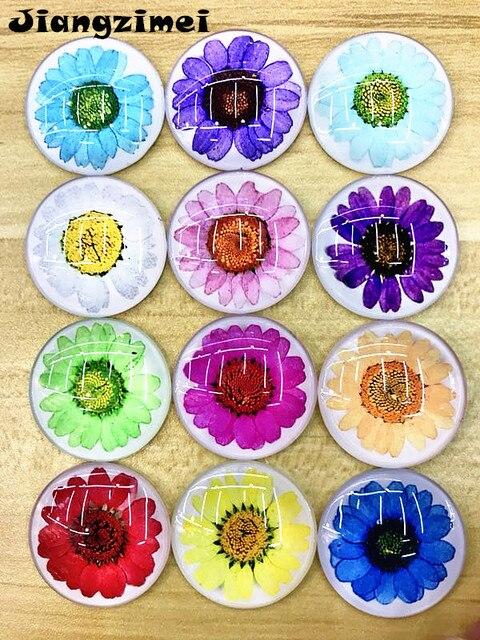 Серьги капельки с ромашками сушеными цветами цветками и хризантемами
