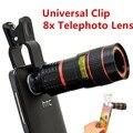 2015 de moda de 8x de Zoom telescopio del teléfono móvil Clip de la lente para el iPhone 5 6 6 más el teléfono celular de la cámara Universal para Samsung CL-19B