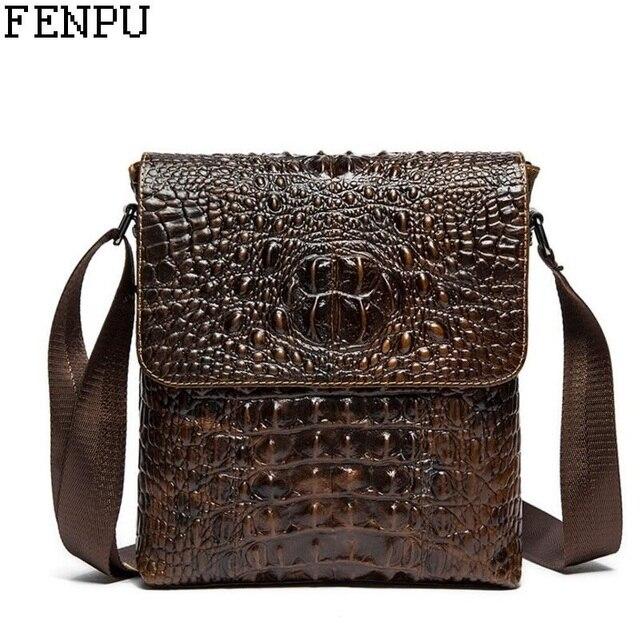 6ce2e5c1df8 100% Genuine Leather Crossbody Bag Men Trendy Men Bag High Quality  Messenger Bag Soft Leather