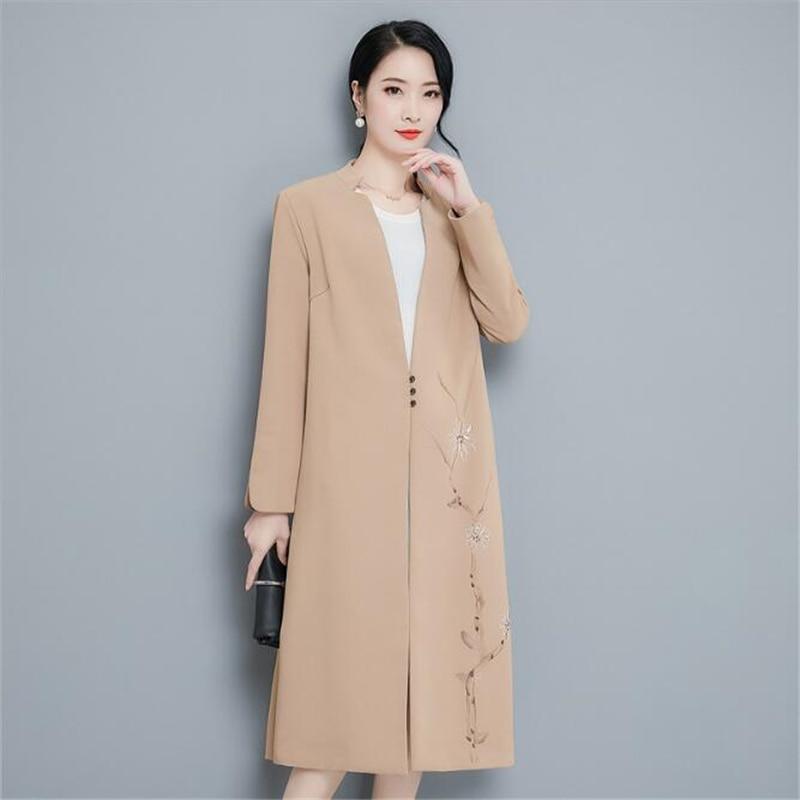 Mince Nouveau Coupe Manteau Taille Grande Lâche Coréenne Vêtements Longueur Moyen Chameau Femmes D'hiver Élégant Veste Color Pictur vent Version Coloré 77SwqZr