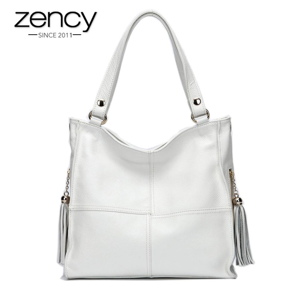 Most Popular Tassel Fashion Designer 100% Genuine Leather Women Shoulder Bag Luxury Ladies Messenger bolso hombro mujeresHandbag