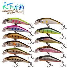 TAF Hot Sinking Minnow 5cm 3.6g Hard Fishing Lure with France VMC Hook Discount Quality Isca Artificial Lure Saltwater Wobblers noeby minnow 140mm 32g 160mm 60g hard fishing lure sinking 0 1 8m hard baits with france vmc hook leurre dur peche