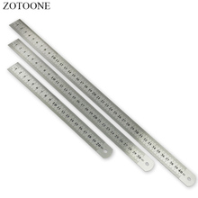 ZOTOONE Sewing Tool Accessory 15/20/30/40cm Stainless Steel Metal Ruler Metric Rule Precision Double Sided Measuring Tool D цены