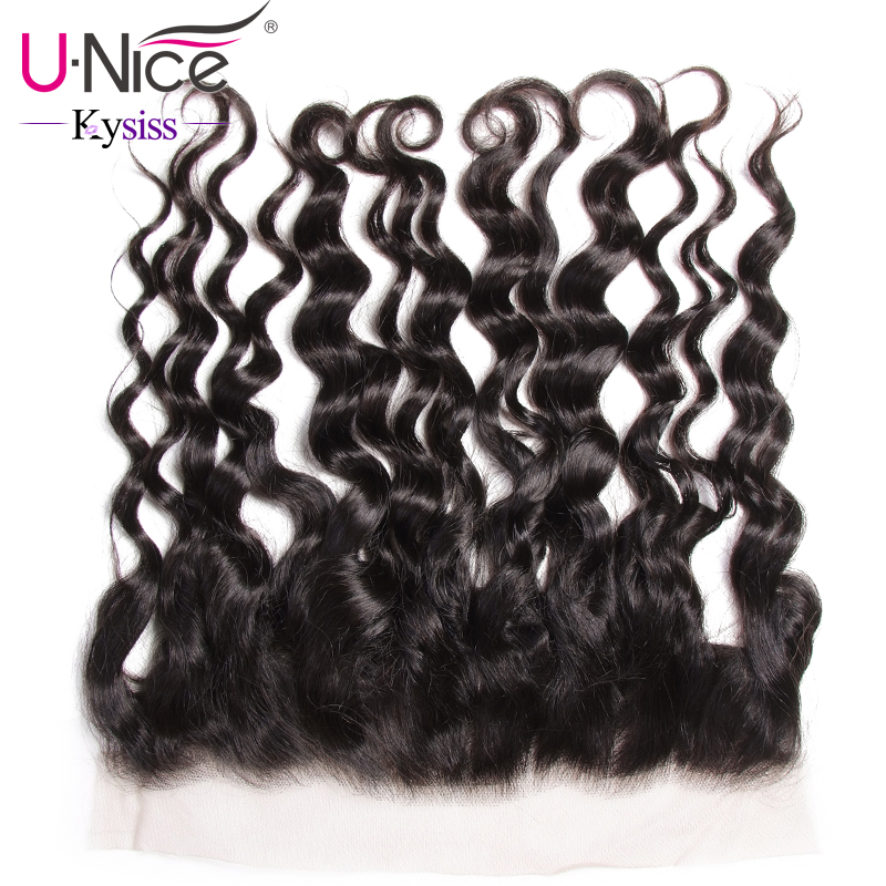 UNice Hair 8A Kysiss Virgin Series Brazilian Natural Wave Lace Frontal Ear to Ear 13X4 Pre
